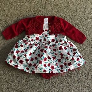 Holiday dress set for baby girl
